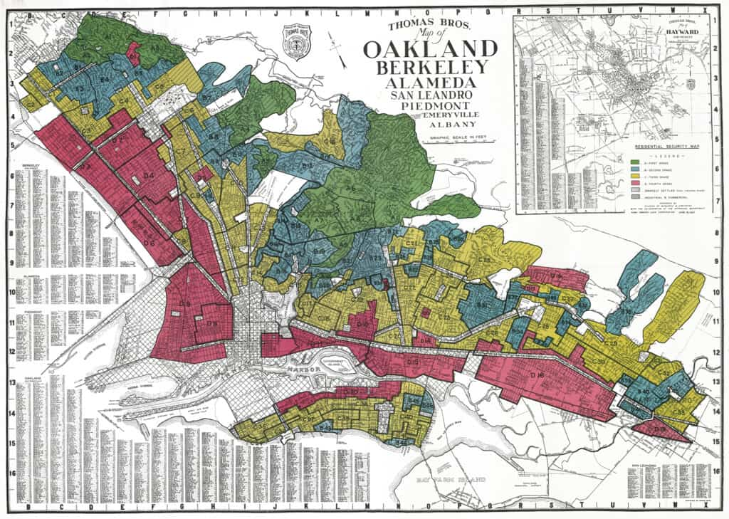 Oakland HOLC map
