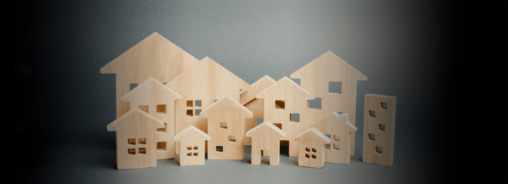 small wooden houses